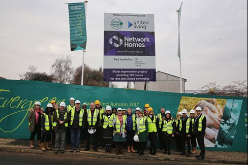 Network Homes development team with local councillors and project partners United Living