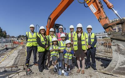 Work starts on 142 affordable homes in Hounslow with visit from Deputy Mayor